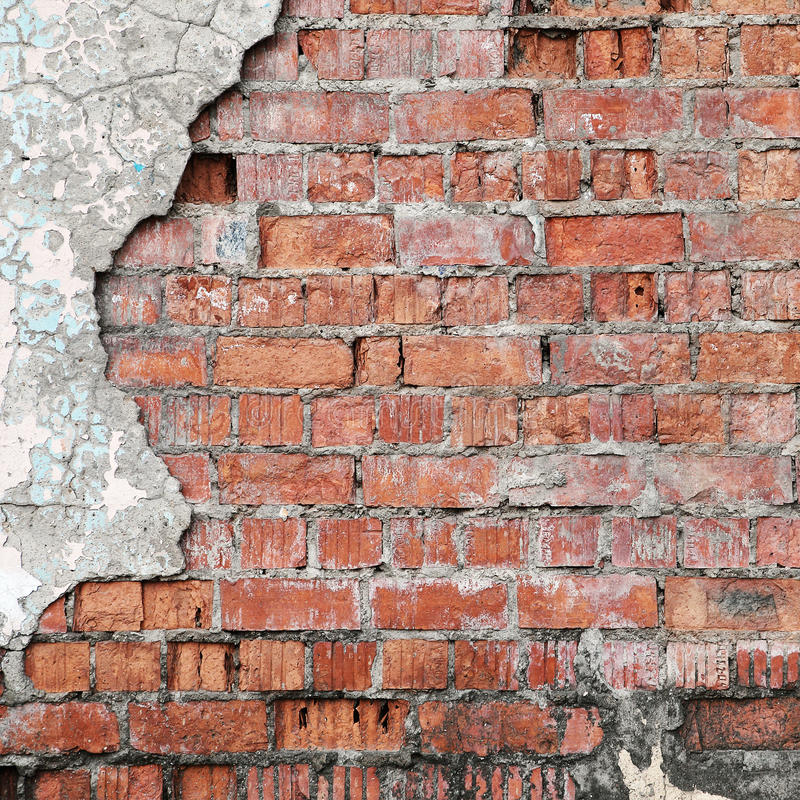 Cracked Concrete Brick Wall Stock Photo Image Of Pattern Aged 34048554