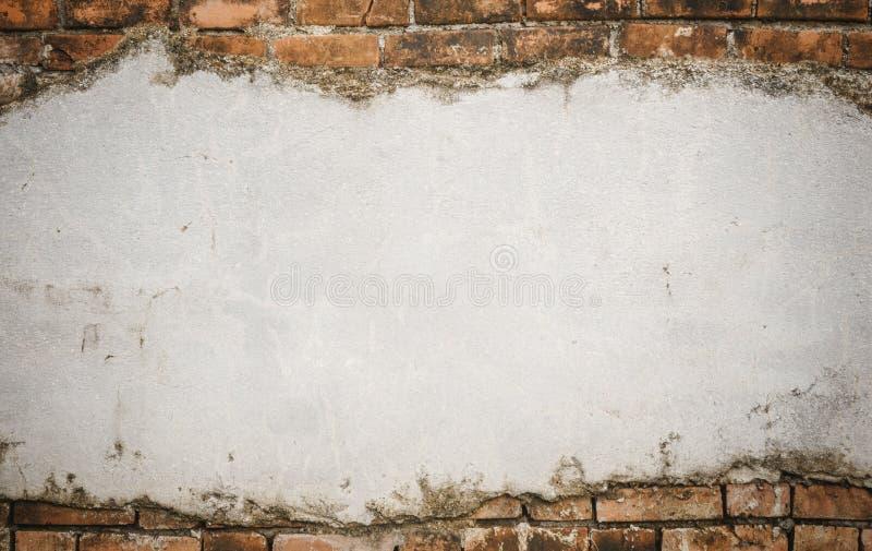 Cracked concrete brick wall stock photo