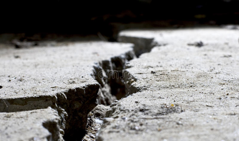 Cracked concrete close up royalty free stock images