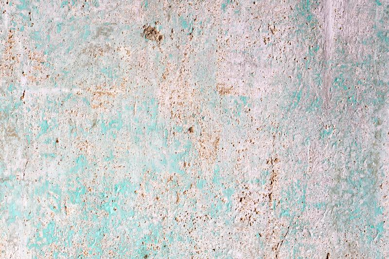 cracked concrete vintage wall background, Abstract light blue grunge rusty wall texture royalty free stock images