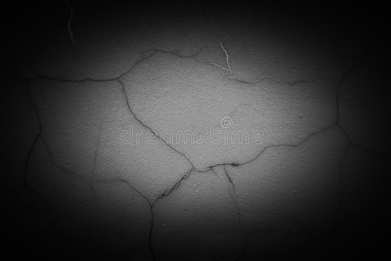 Cracked concrete wall texture royalty free stock photo