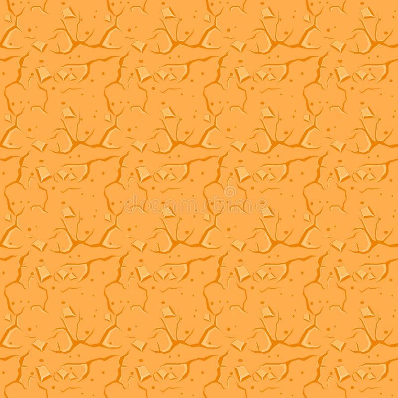 cracked desert ground Διανυσματική ανασκόπηση απεικόνιση αποθεμάτων