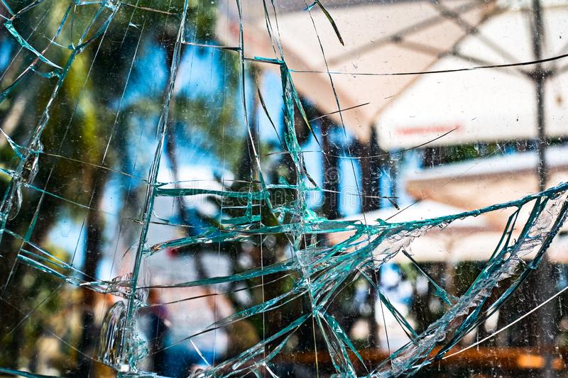 Cracked dirty glass texture royalty free stock photo