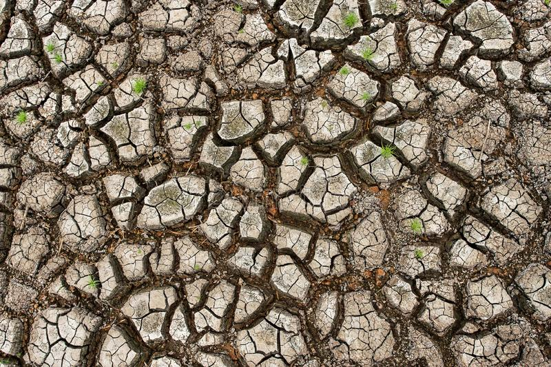 Cracked dry land without wate stock photos