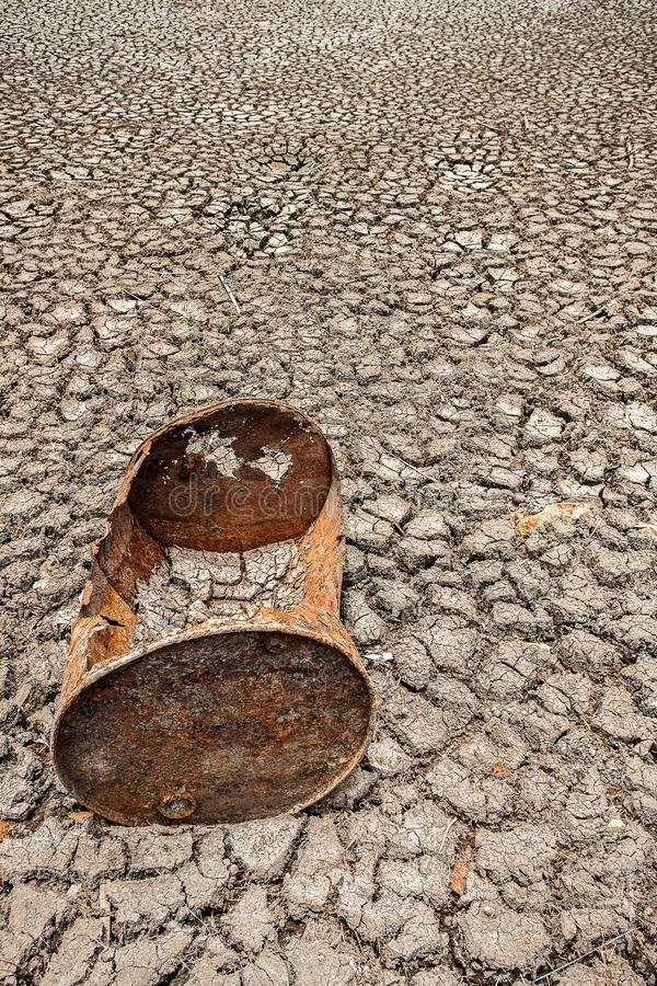 Cracked dry land without wate royalty free stock photography