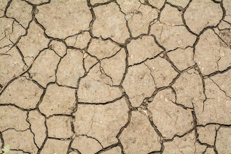 Cracked dry soil royalty free stock photography