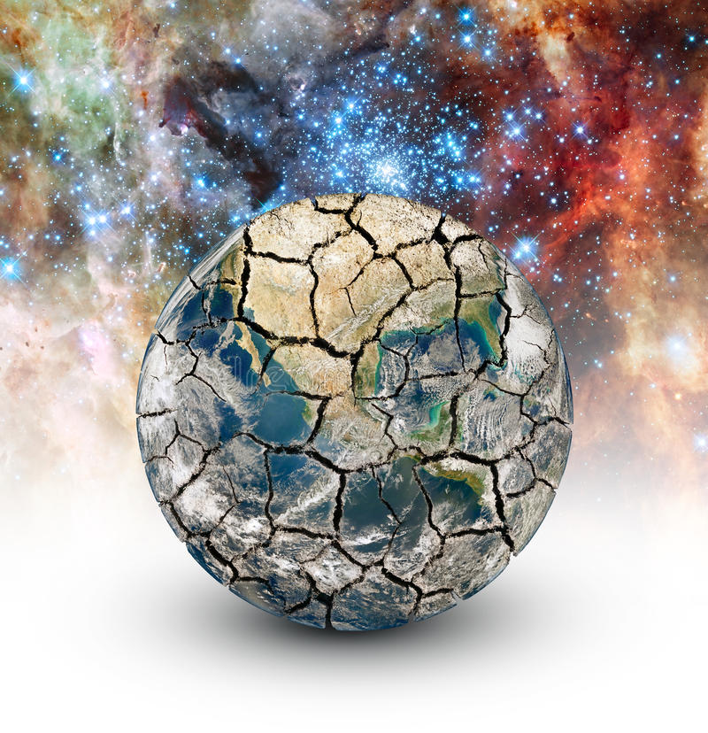 Cracked Earth royalty free illustration