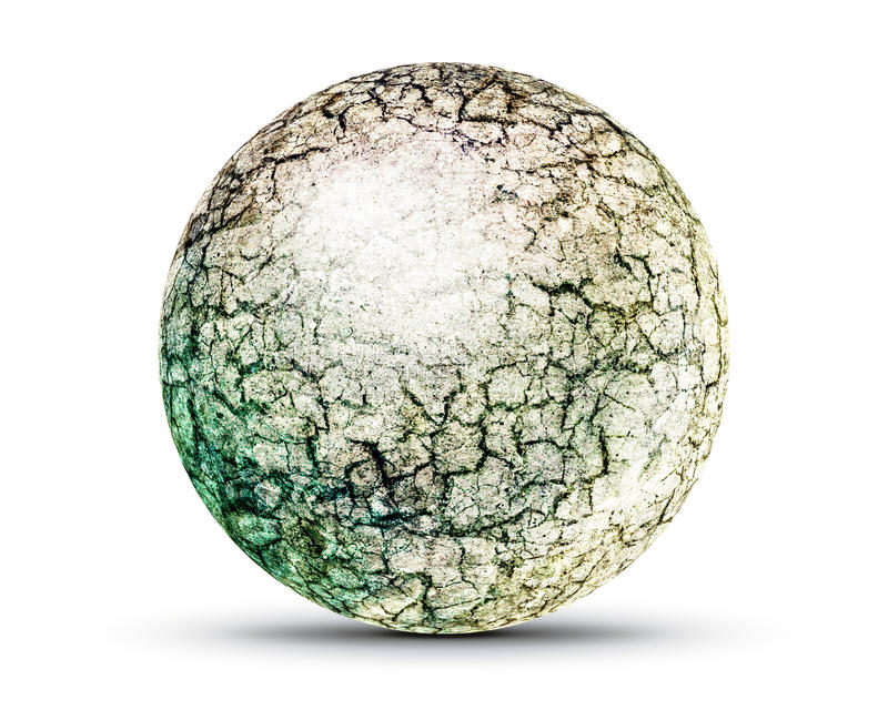 Cracked earth planet royalty free stock image
