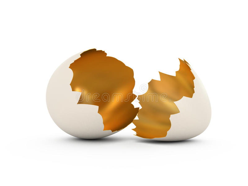 Cracked Egg stock illustration