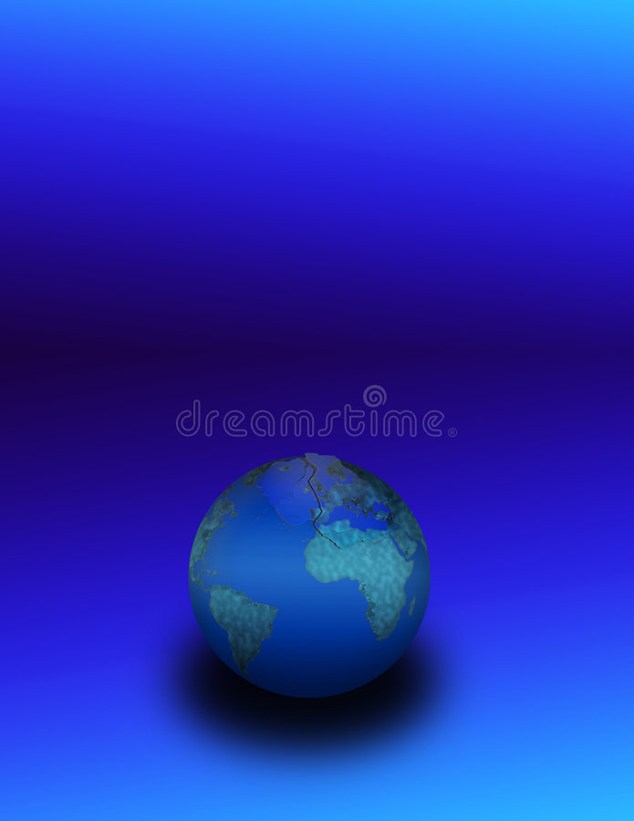 Cracked Eggshell Earth vector illustration