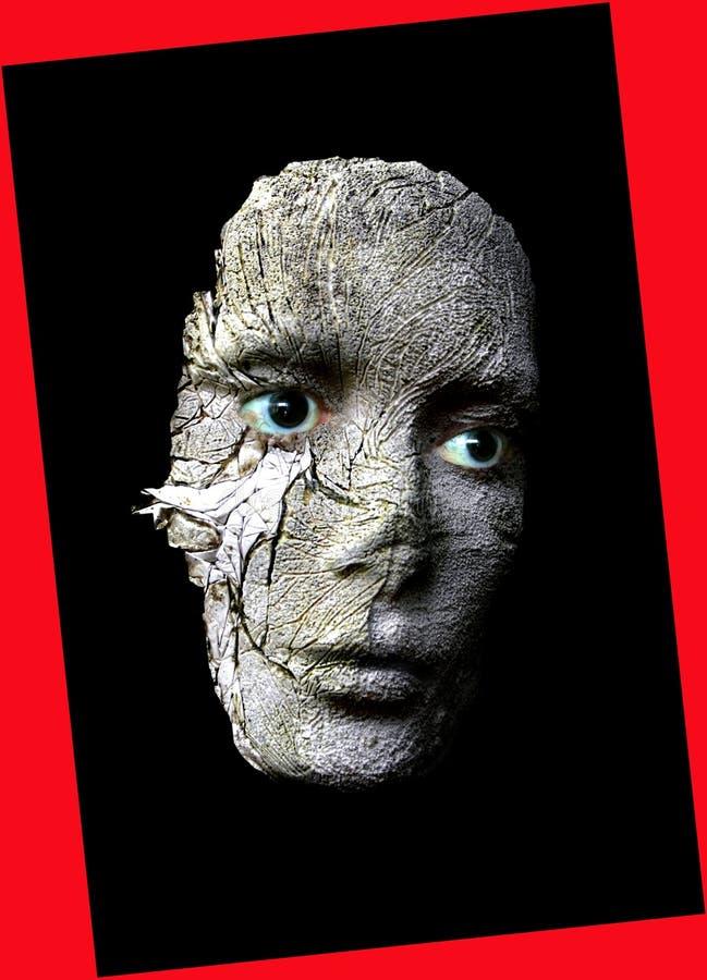 Download Cracked face stock illustration. Image of imagination, fantasy - 713858