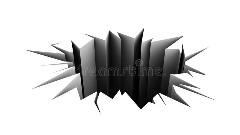 Download Cracked Floor. Hole In The White Pavement. Stock Illustration - Image: 20921654