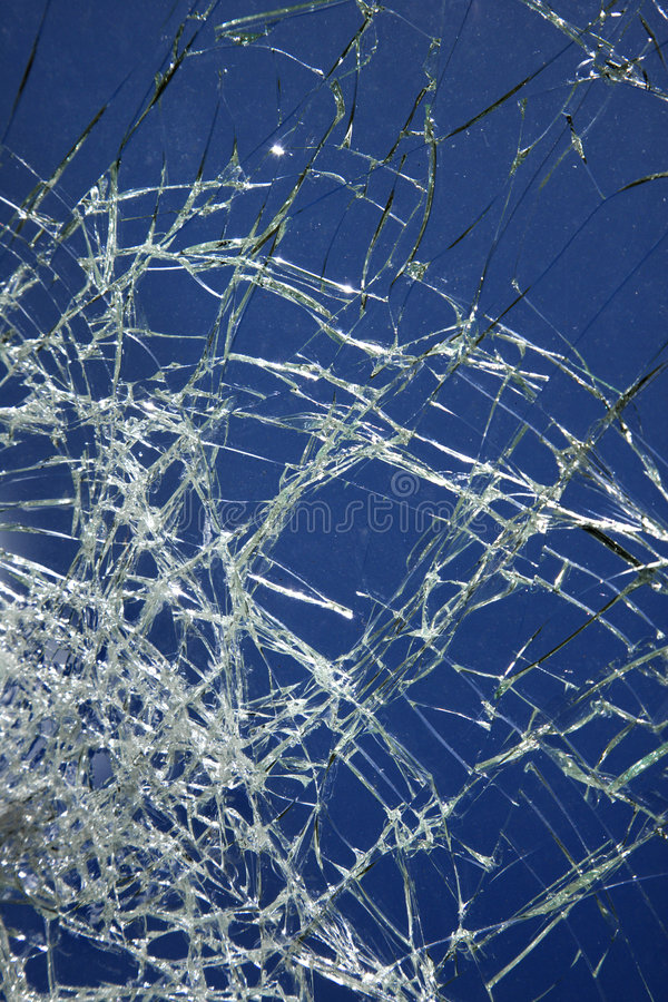 Cracked glass. stock image