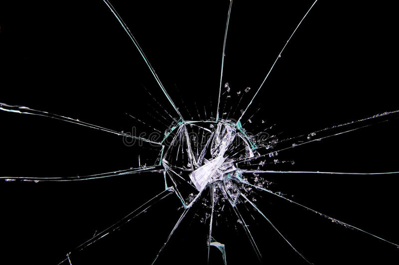 Cracked glass royalty free stock photography