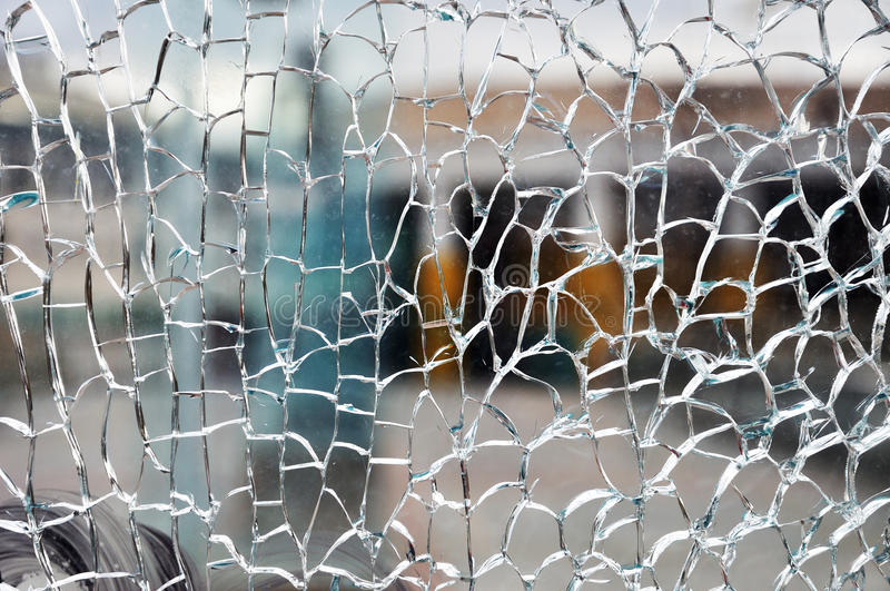 Download Cracked glass stock image. Image of cracked, accident - 27028413