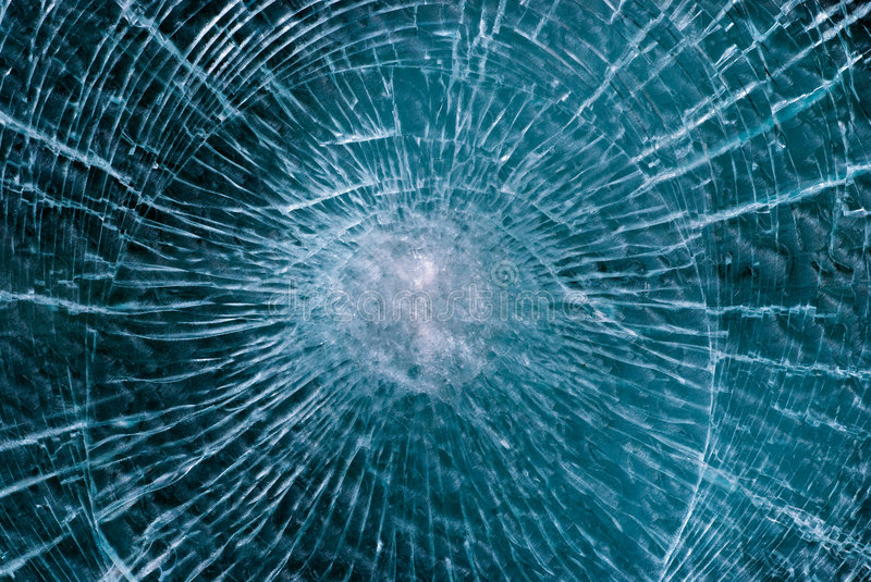 Cracked glass stock image