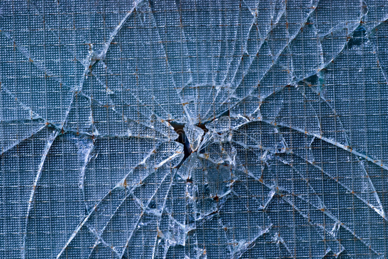Cracked glass royalty free stock image
