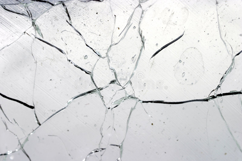 Cracked glass stock images