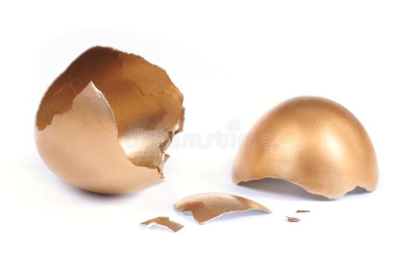 Cracked Golden Egg Royalty Free Stock Photo