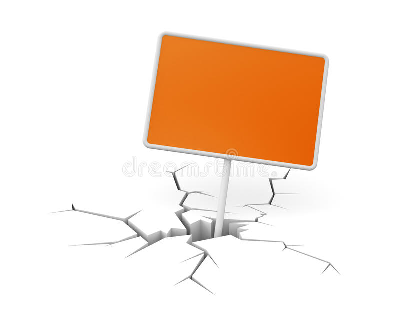 Download Cracked Ground With Billboard Stock Illustration - Image: 33438984