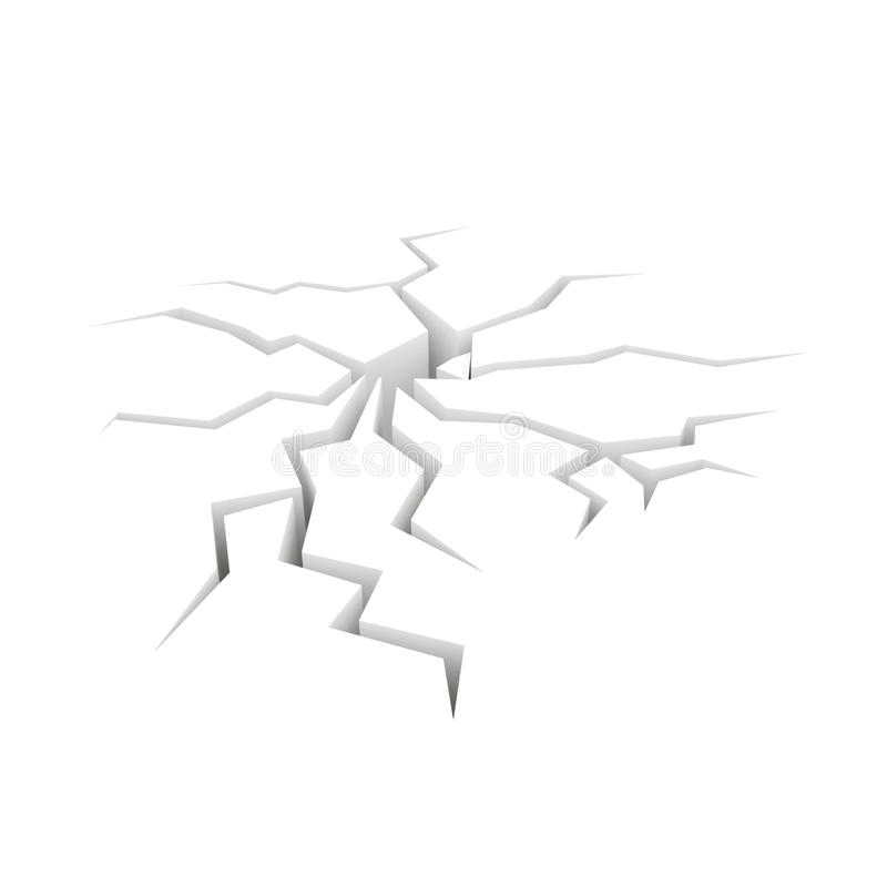 Cracked ground 3D royalty free illustration