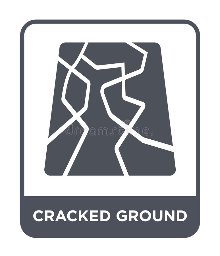 cracked ground icon in trendy design style. cracked ground icon isolated on white background. cracked ground vector icon simple royalty free illustration