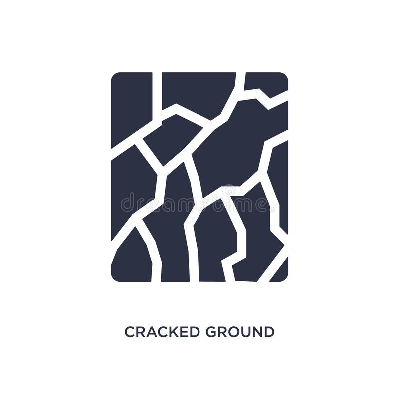 cracked ground icon on white background. Simple element illustration from meteorology concept stock illustration