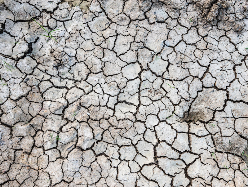 Cracked ground. Texture and background royalty free stock photos