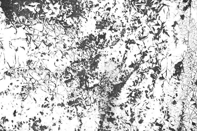 Cracked grunge paint contrast black and white texture stock photography