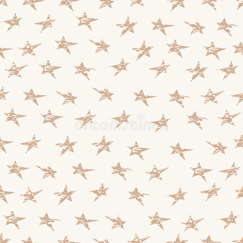 Cracked grunge stars seamless pattern. Textile or wrapping paper. vector illustration