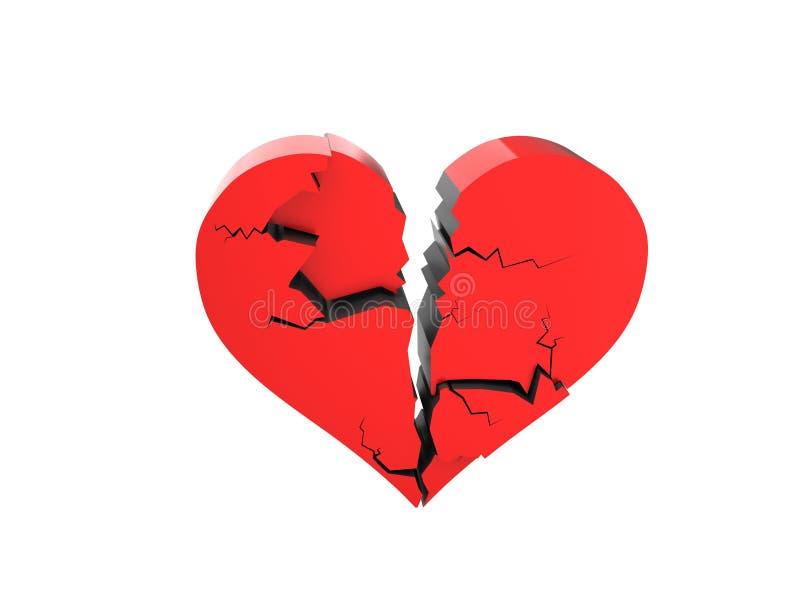 Cracked Heart Stock Photo