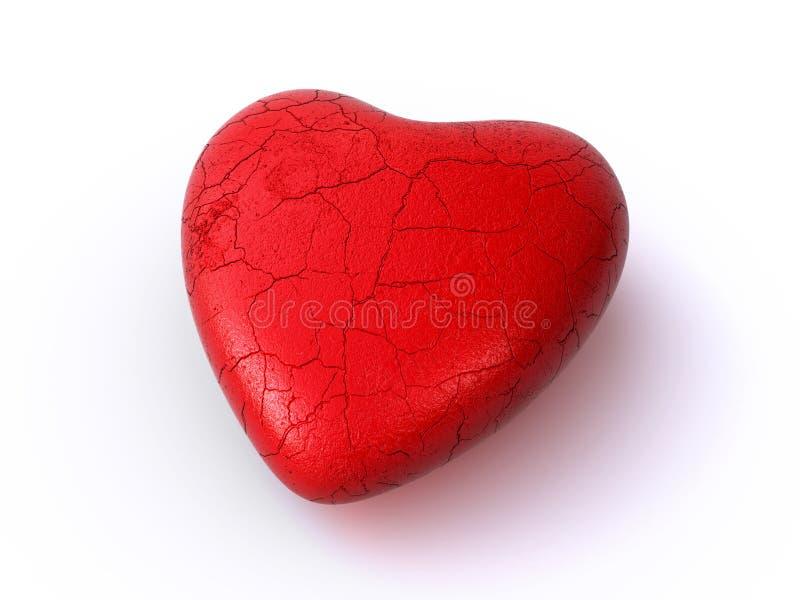 Cracked heart vector illustration