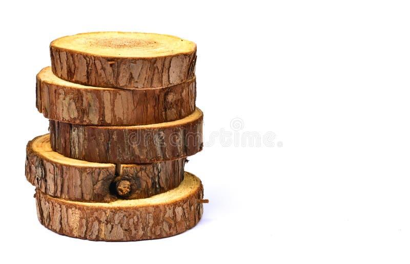 Cut timber slices stock photos