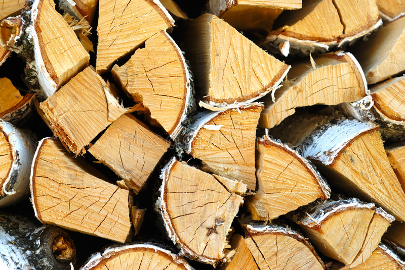 Cracked Logs stock photography