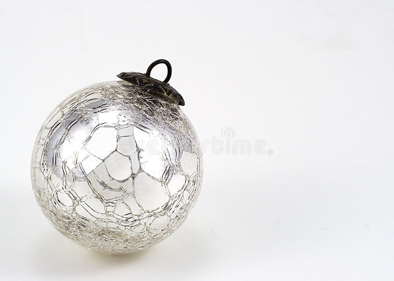 Download Cracked Mirror Christmas Ornament Stock Photo - Image: 1716354