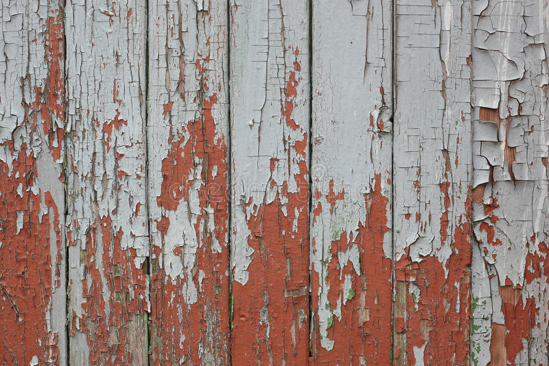 Cracked paint on old boards. background. stock photo