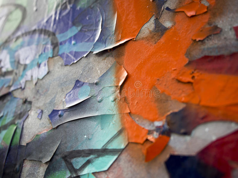 Cracked painting royalty free stock images