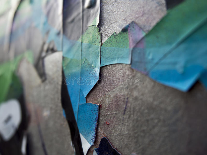 Cracked painting stock image