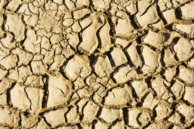 Cracked and parched earth in a lake bed. India, Cracked and parched earth in a river bed royalty free stock photos