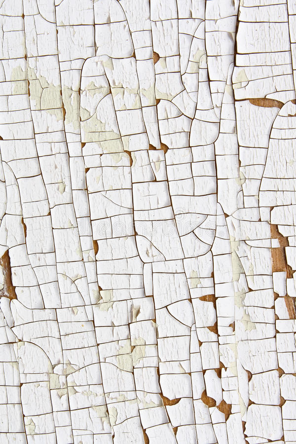 Cracked and Peeling White Paint 2 stock photography