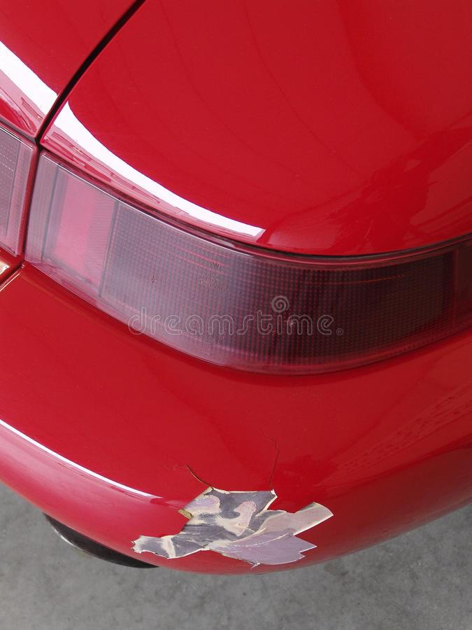 Download Cracked red bumper stock photo. Image of vehicle, traffic - 26342294