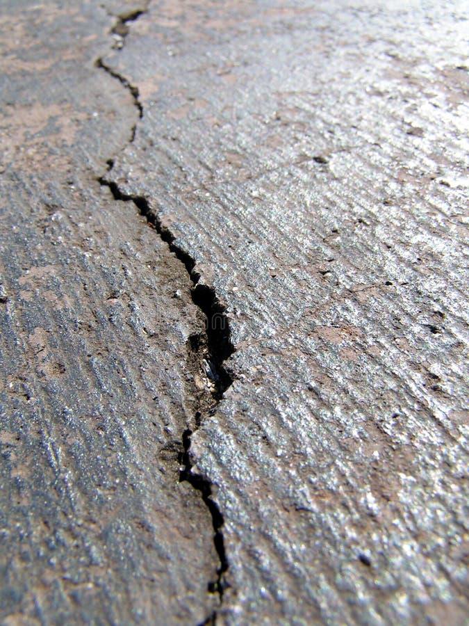 Cracked Road II Stock Photo