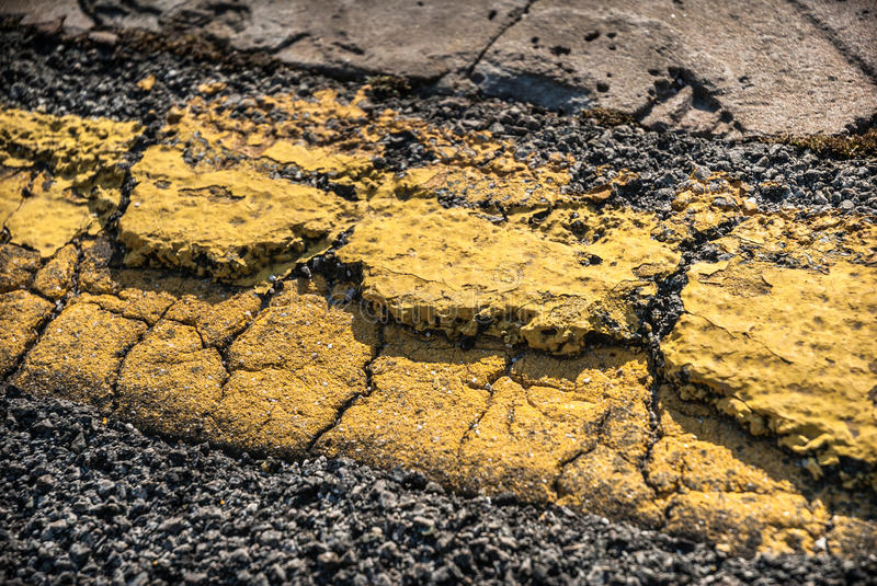 Download Cracked Road Marking stock image. Image of neglect, line - 39122315