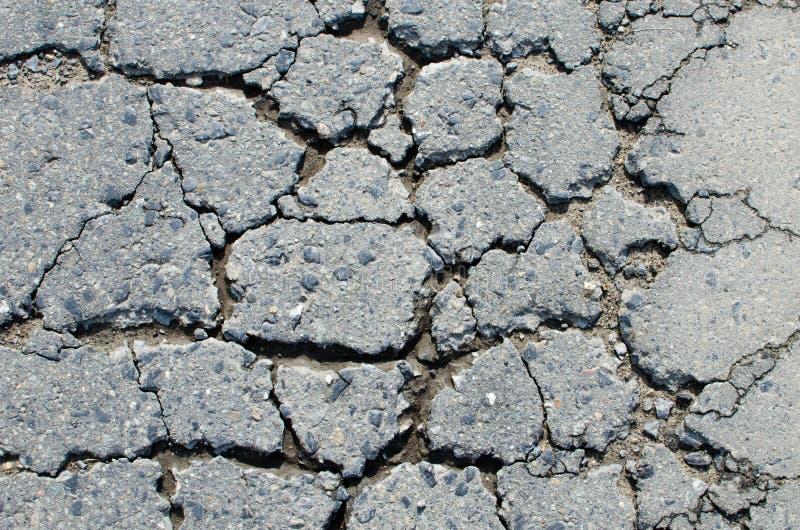 Cracked road stock photo