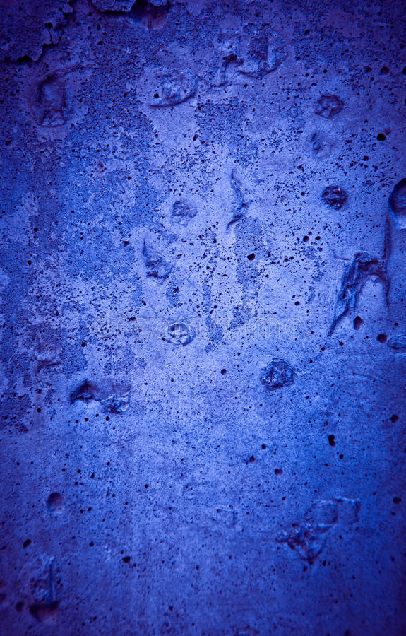 Cracked rough blue concrete texture royalty free stock image