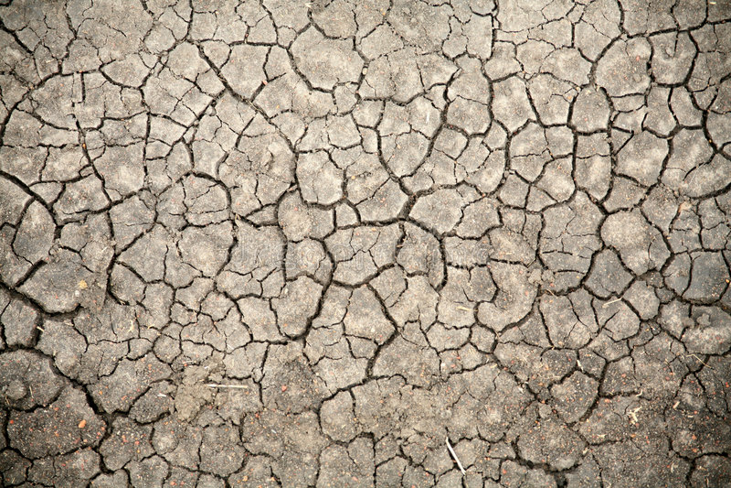 Cracked Soil (Kenya). Dry cracked soil in the Masai Mara Reserve (Kenya stock image