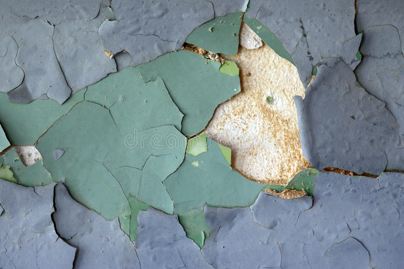 Cracked stucco - grunge background. Design flaw royalty free stock photography