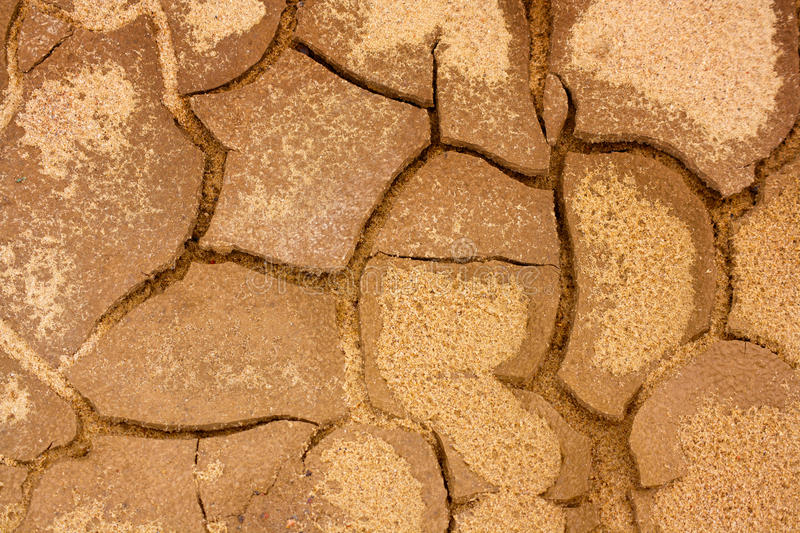 Cracked terrain texture. Texture of cracked dirty dry terrain close up royalty free stock photography