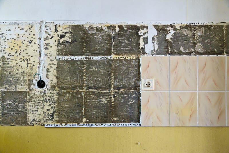 Cracked tiles royalty free stock photo