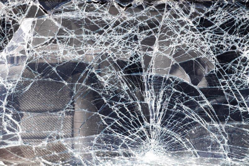 Cracked vehicle windscreen stock photos